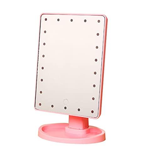 Zhou-YuXiang Espejo de Maquillaje con luz LED Espejo de tocador con Pantalla táctil Espejo de Aumento de 10X Desmontable Espejo cosmético de encimera