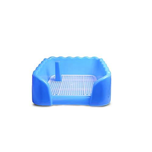 LIUJING Huisdier toilet, vierkante potty trainer hoek vuilnisbak kleine huisdier wastafel, Small, Blauw