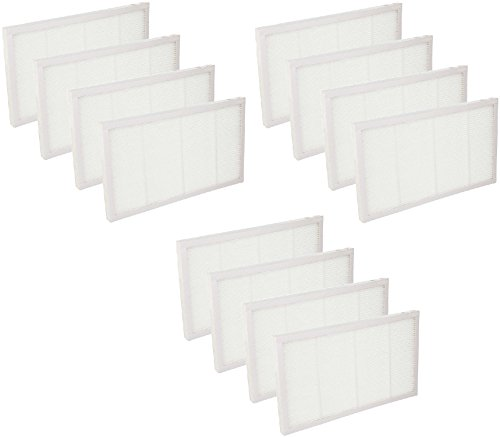 Nispira HEPA Filter Compatible with Filtrete 3M Ultra Air Cleaning FAPF02 FAPF024 for Purifiers FAP01-RMS and FAP02-RMS - 12 Packs