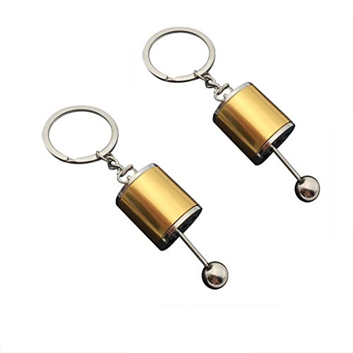 Fineday Metal Car Gear Knob Gear Shift Gear Stick Gearbox Model Keychain Keyring Gift, Toys and Hobbies (As Show)
