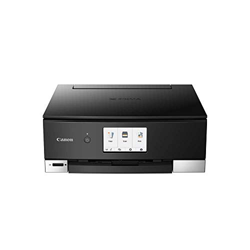 Canon PIXMA TS8350 Drucker Farbtintenstrahl Multifunktionsgerät DIN A4 (Drucken, Scannen, Kopieren, 4.800 x 1.200 dpi, 6 separate Tinten, USB, WLAN, Duplexdruck, 2 Papierzuführungen), schwarz