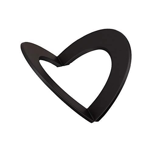 LANZZAS Ofenrohr Eck-Rosette für Innenecke mit 50 mm Rand - für den Durchmesser Ø 150 mm - Farbe: schwarz - Ofenrohr Wand-Rosette für Ecke Innen