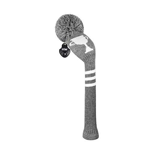 Scott Edward Golfschlägerhaube, gestrickt, für Holz, Driver Wood (460 cc), Fairway-Holz/Hybrid, weich, waschbar, Anti-Pilling, Anti-Falten, langer Hals, 1 Stück, Power, Driver