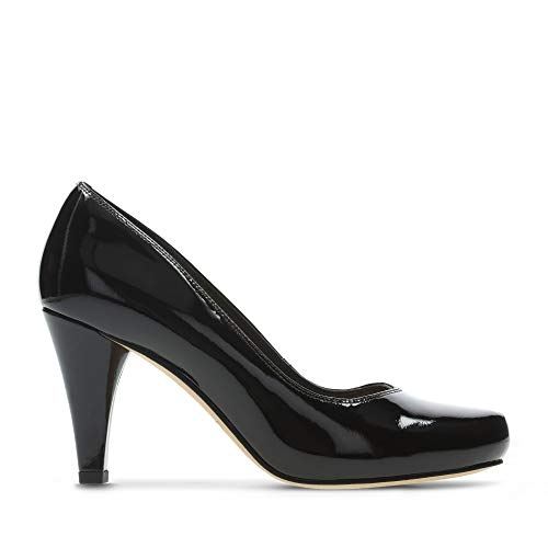 Clarks Damen Dalia Rose Pumps, Schwarz (Black Patent), 39 EU