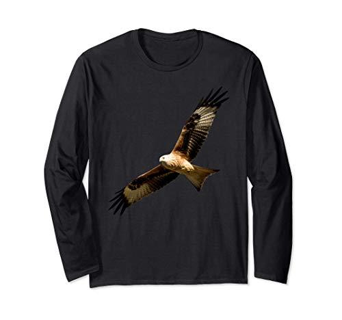 Hermoso pájaro águila roja voladora Manga Larga