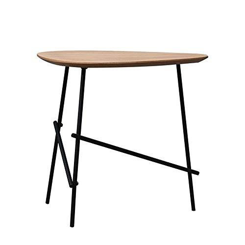 Jcnfa-bijzettafel salontafel, eindbijzettafels, metalen frame, nachtkastje MDF hout-achtige meubels, voor het houden van snacks drankjes tijdschriften in thuiskantoor