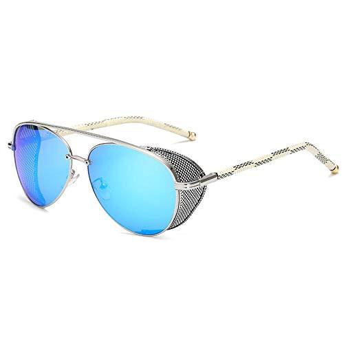 Gafas De Sol Polarizadas Moda Steampunk Gafas De Sol De Diseño De Marca Mujeres Hombres Vintage Punk Revestimiento Espejo Gafas De Sol Uv400 Sombras Oculos De Sol 05