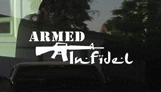Yilooom Bumper Sticker for Cars, Trucks, Laptops - Armed Infidel