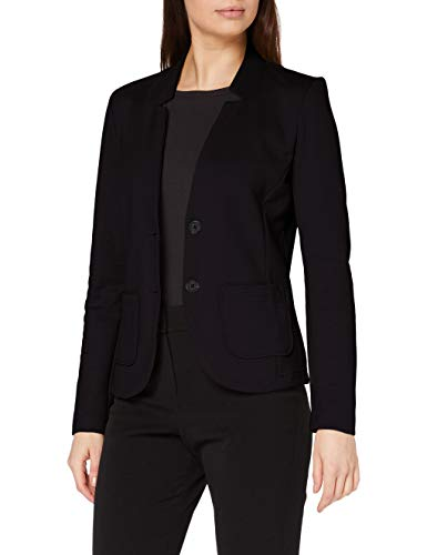 Tom Tailor Basic Jersey Blazer, Nero (14482-Deep Black), XS Donna