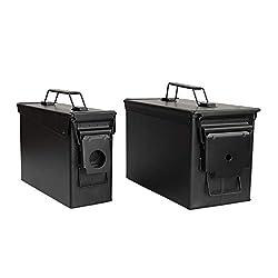 professional Black Waterproof Ammo Box in Country Monastery Military Storage Box – MTM 50 Round Flip Top Ammo Box…