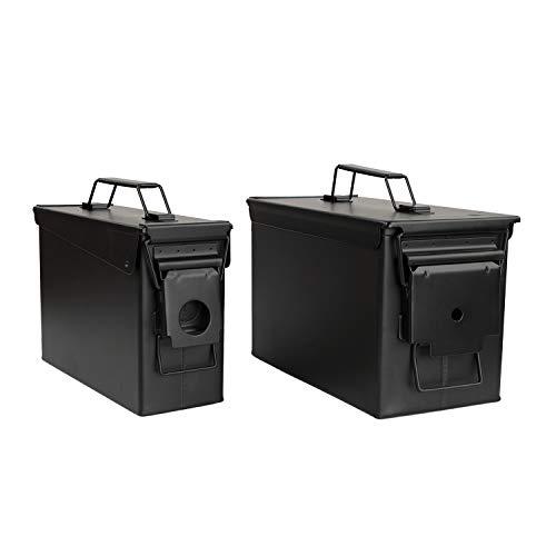 Redneck Convent Black Waterproof Ammo Box Military Storage Box – MTM 50 Round Flip Top Ammo Box Ammo Can Organizer Reloading Supplies