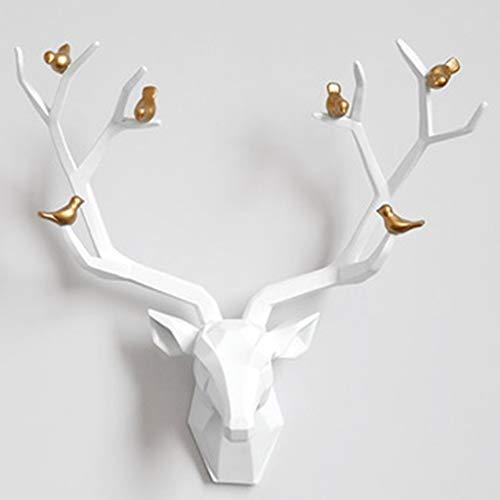 Dierenkop kunst aan de muur Hert Hoofd Wand Decor,Indoor Driedimensionale Hertenkop Sculptuur, Geometrische Dierenkop…