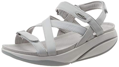 MBT Damen Kiburi W Peeptoe Sandalen, Grau (Light Grey 1085i), 39 EU