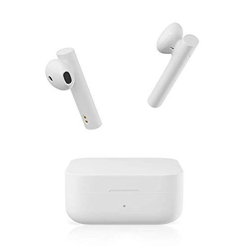 Xiaomi Mi True Wireless Earphones 2 Basic Auriculares Inalámbricos Bluetooth, Control Tactil Auricular, Bluetooth 5.0, Estéreo, Micrófono Dual Reducción de Ruido de Llamada, Blanco