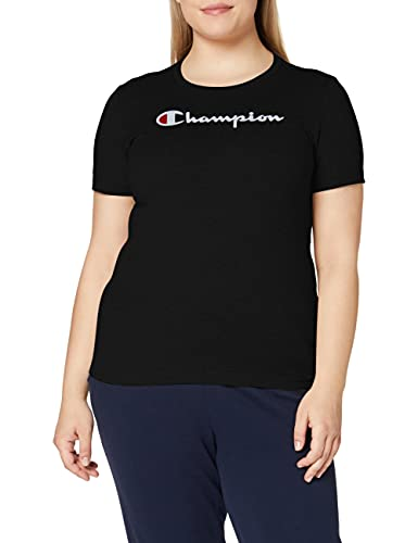 Champion Damen - Classic Logo T-Shirt - Schwarz, M