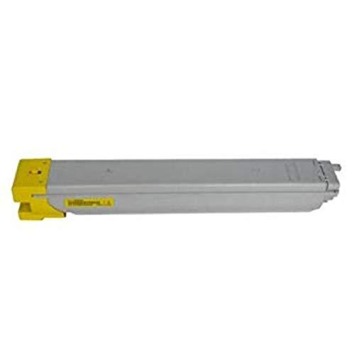 Compatible con HP W9040MC 9041 9042 9043 Cartucho de tóner de Color E77822dn Impresora E77825z Cartucho de Tinta,Amarillo