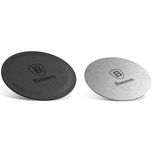 Baseus Magnet Iron Suit 2 x Magnetic Metal Plates for Mobile Phone Holder Smartphone Holder for Car Silver (ACDR-A0S)