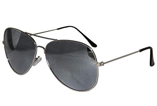 Foxxeo FO35320 | Silberne Pilotenbrille Party Brille Pilot Cool Sonnenbrille