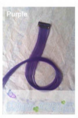 Extensions de cheveux synthétiques à clipser 50 cm de long et lisses pour femme