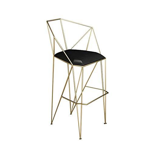 Chaise de Bar en métal avec Dossier et accoudoirs