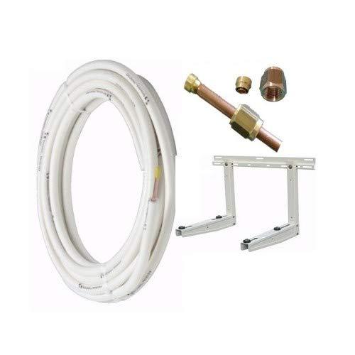 """Kit installazione condizionatore mono - 10mt rame 1/4"""" + 3/8"""" - staffa portata 80 kg"""