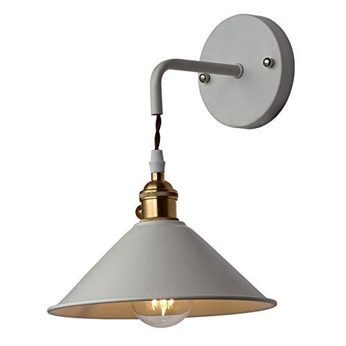 Vintage Wandlampe E27 Industrial Wandleuchte LED Reto Lampen Grau Retro Lampe Wandleuchten Metall Wandbeleuchtung Art Deco für Wohnzimmer Schlafzimmer Restaurant Bar Flur Treppen