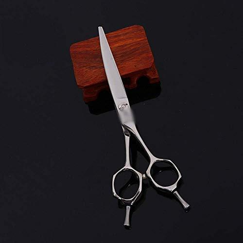 ZGQA-GQA Tijeras de peluquería 6 Pulgadas de Peluquería Familia Profesional de Gama Alta Tijeras de peluquería Tijeras Profesionales (Color: Plata)