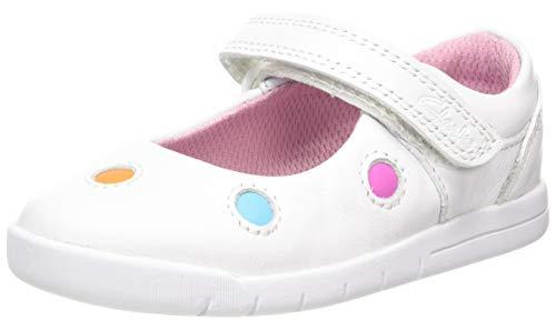 Clarks Mädchen Emery Dot T Geschlossene Ballerinas, Weiß (White White), 24 EU
