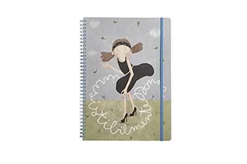 Cuaderno de espiral con tapa de plástico para documentos, cuaderno de anillas, para escuela, oficina, diseño de Le Nasute.