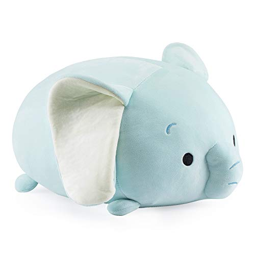 Redbey L/X 14.6-inch Cute Elephant Plush Stuffed Animal Pillow,Super Soft Cartoon Hugging Toy Gifts for Bedding, Kids Sleeping Kawaii Pillow