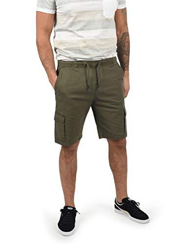 Indicode Frances Herren Cargo Shorts Bermuda Kurze Hose Mit Elastischem Bund und Stretch-Anteil Regular Fit, Größe:L, Farbe:Army (600)