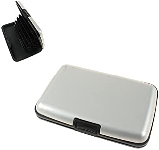 Aluminium Credit Card Holder Aluminum/Security Wallet - Black, Red, Purple, Silver by Lizzy® (Silver)
