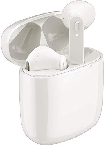 Auriculares inalámbricos Bluetooth, emparejamiento automático Inteligente Bluetooth 5.0, Auriculares Impermeables IPX8 con reducción de Ruido, Caja de Carga portátil, Apto para Smartphones etc.