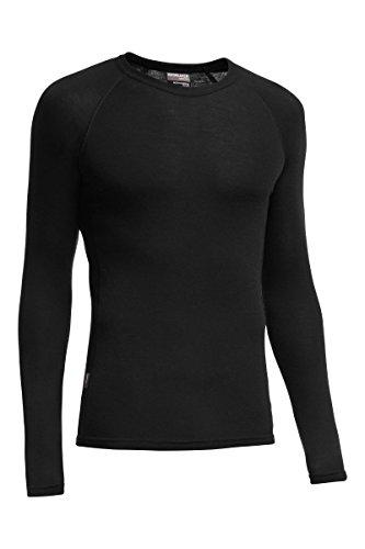 Icebreaker Merino Men's Everyday Long Sleeve Crewe Top, Black, 3X-Large