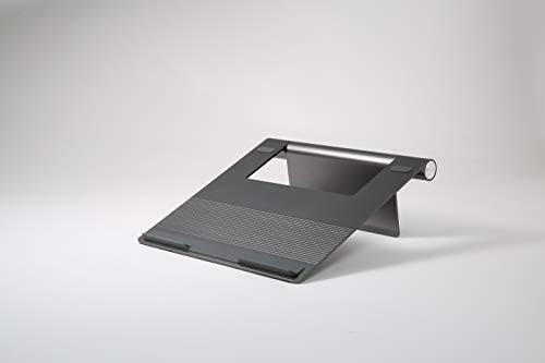 Pallo Pout Eyes 3 - Soporte portátil de Aluminio, Plegable, pie de Goma Antideslizante, antisobrecalentamiento, Compatible con Macbook Pro, MacBook Air, Samsung, Otros portátiles de 17' (Gris)