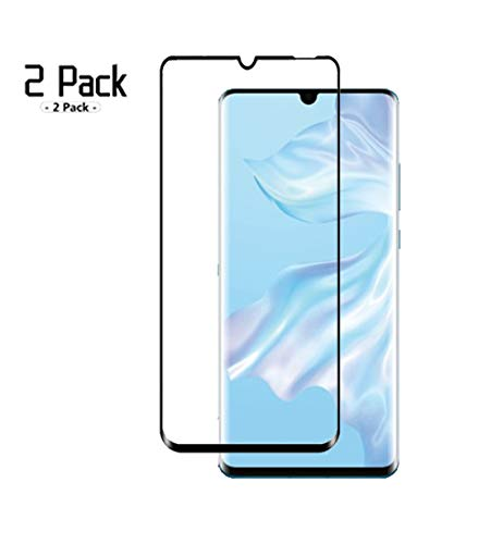 [2 Pack] for Huawei P30 Pro Screen Protector Tempered Glass, Newbel HD [3D Full Coverage][Anti-Scratch][Bubble Free] 9H Hardness Tempered Glass for Huawei P30 Pro (Black)