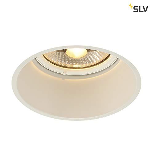 SLV LED Einbauleuchte HORN-T, rund, weiß , Dimmbarer Deckenstrahler, Innen-Beleuchtung , LED Spots, Deckenleuchte, Einbau-Spot, Decken-Spots, Einbau-Strahler , 1-strahlig, GU10 QPAR111, EEK E-A++