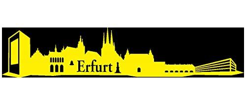 Samunshi® Wandsticker Erfurt Skyline Wandtattoo verschiedenen Größen und Farben lieferbar in 8 Größen und 25 Farben (50x10,4cm gelb)