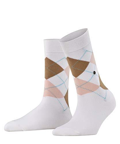 Burlington Damen Queen Socken, Blickdicht, Weiß (White 2004), 36-41