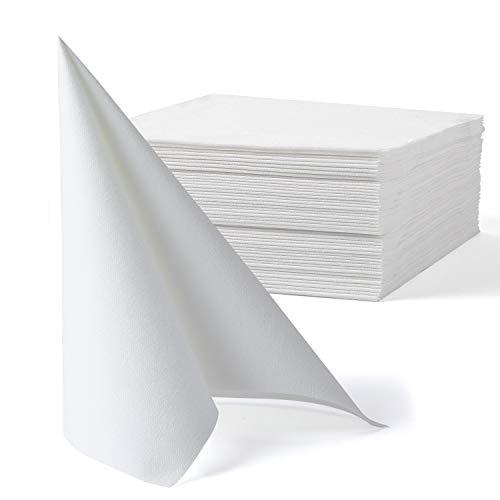 MORGIANA Servilletas Servilletas con aspecto de tela, Servilletas de papel Airlaid Sensación de lino Servilletas...
