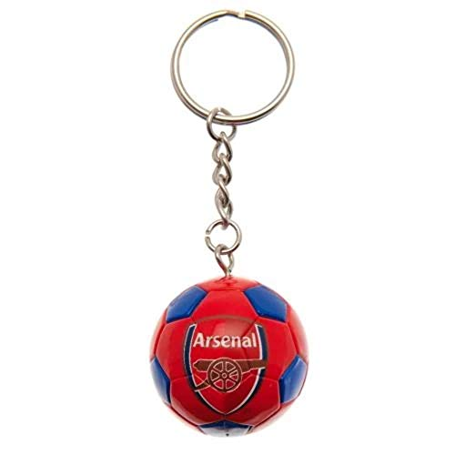 Arsenal FC Soccer Ball Keyring (One Size) (Red)