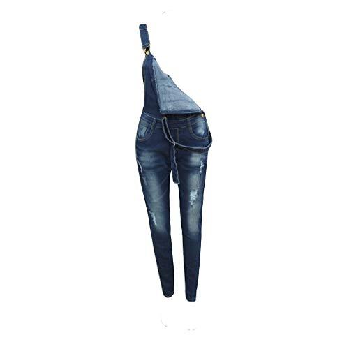 Ansenesna Jeans Latzhose Damen Lang Skinny Zerissene Elegant Jumpsuit Frauen Vintage Denim Playsuit