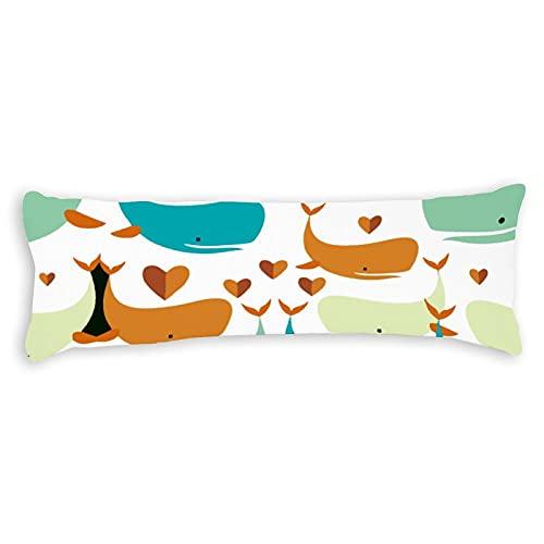 happygoluck1y Alexander Henry Big Bites Pink Cute Body Pillow Covers 50x50cm Lang Kissenbezüge für Bett Erwachsene Teen Mädchen