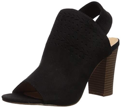 XOXO Women's Bardia Heeled Sandal, Black, 8.5 M US