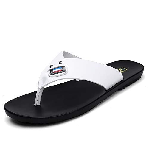 Luyangyund Sandalias deportivas Flip-Flop para hombre, cómodas, casuales, para exteriores, para hombre, blanco, 95