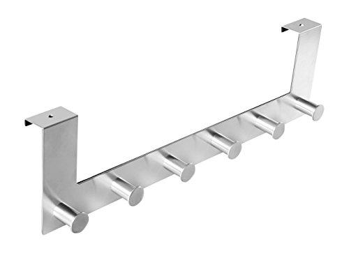Ambrosya® | Exklusiver Handtuchhalter aus Edelstahl | Bad Badezimmer Haken Halter Halterung Handtuch Handtuchhaken Handtuchstange Stange Tür Türgarderobe (Edelstahl (Gebürstet))