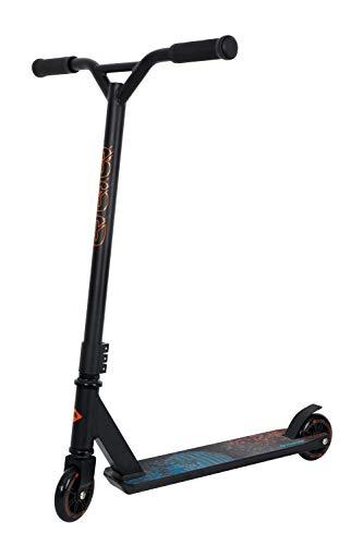 Schildkröt Stunt Scooter 360, Stuntscooter aus Aluminium, wertiges Einstiegsmodell für die ersten Tricks und Stunts, 100mm PU Räder, Design: Space, 510471, schwarz