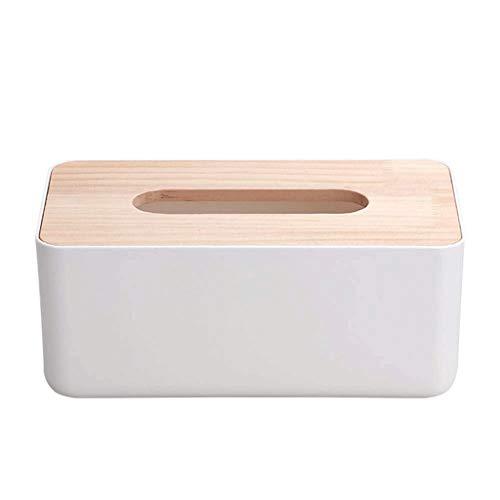 WYBFZTT-188 Caja de pañuelos de bambú, Caja de pañuelos Caja de Almacenamiento Organizador del Organizador del dispensador de Tejidos Accesorios de baño para servilletas, Caja de Papel