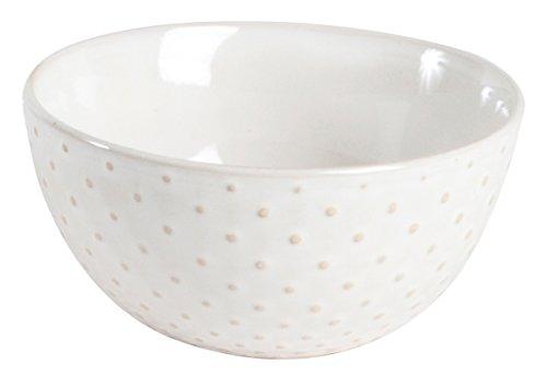 """SARO LIFESTYLE SE178.I6 Swiss Dot Design Bowl, Ivory, 6"""" (Set of 4 pcs)"""