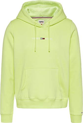 Tommy Jeans Tjw Linear Logo Hoodie, Suéter Mujer, Lima Desteñida, S